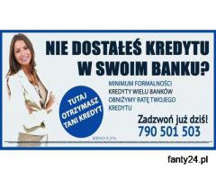 Nie dostałeś kredytu w swoim Banku?Zapraszamy, Kredyty z najwyższą przyznawalnością!